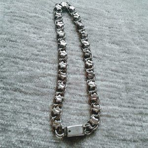 mexico sterling circle star chain link braceletSo